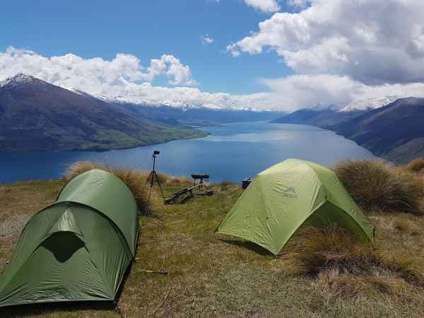 Tent Above Lake